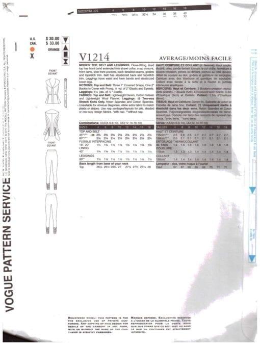 Vogue V1214 1