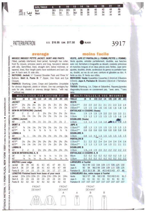 Butterick 3917 M 1