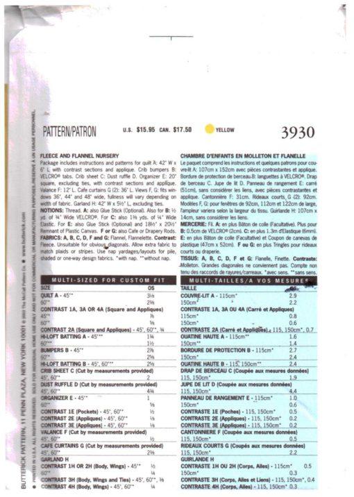 Butterick 3930 M 1