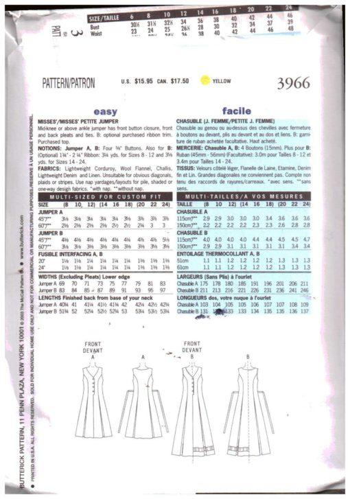 Butterick 3966 M 1
