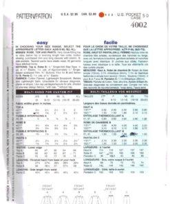 Butterick 4002 M 1