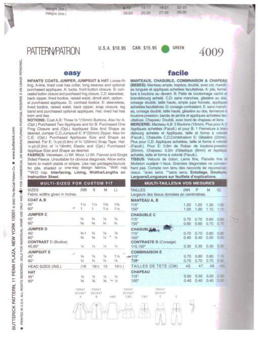Butterick 4009 M 1
