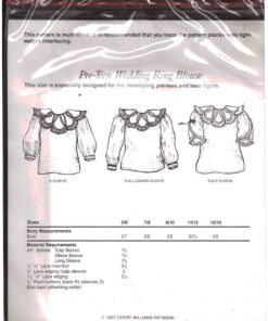 Chery Williams Lacy Pre Teen Wedding Ring Blouse 1
