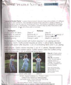 Creative Needle Laurens Pocket Pants 1