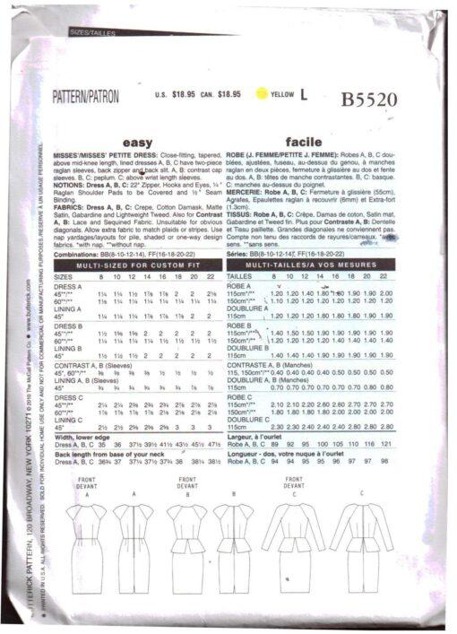 Butterick B5520 J 1