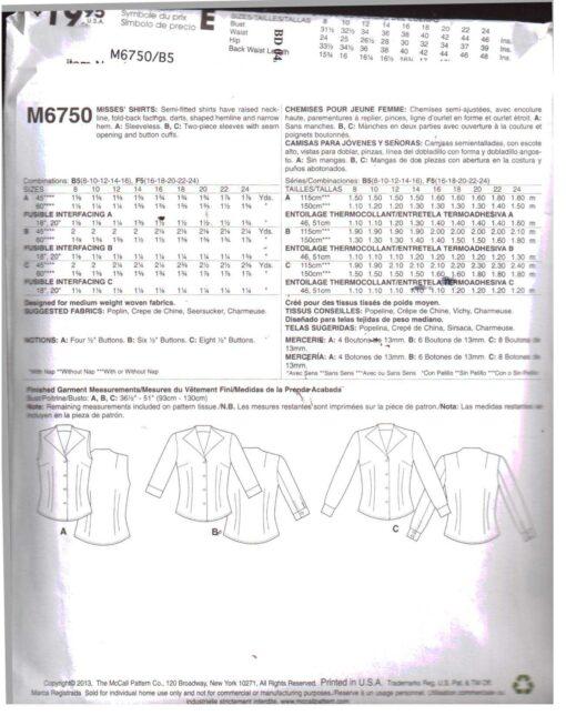 McCalls M6750 D 1
