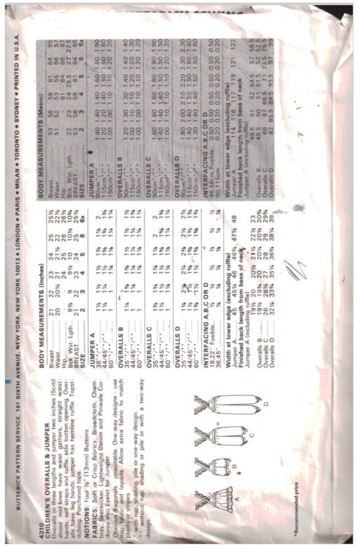 Butterick 4310 F 1