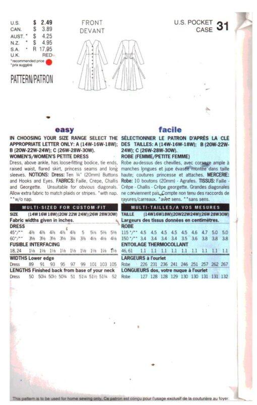 Butterick 5351 F 1