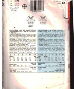 Butterick 5519 F 1