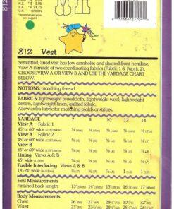 Butterick 812 1