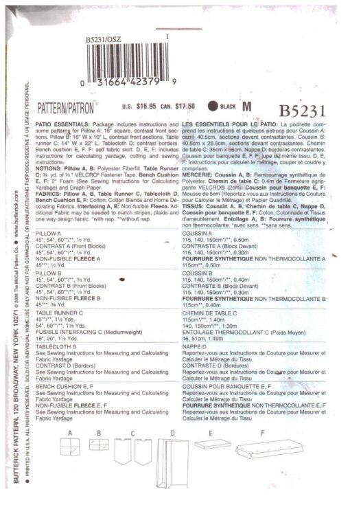 Butterick B5231 1