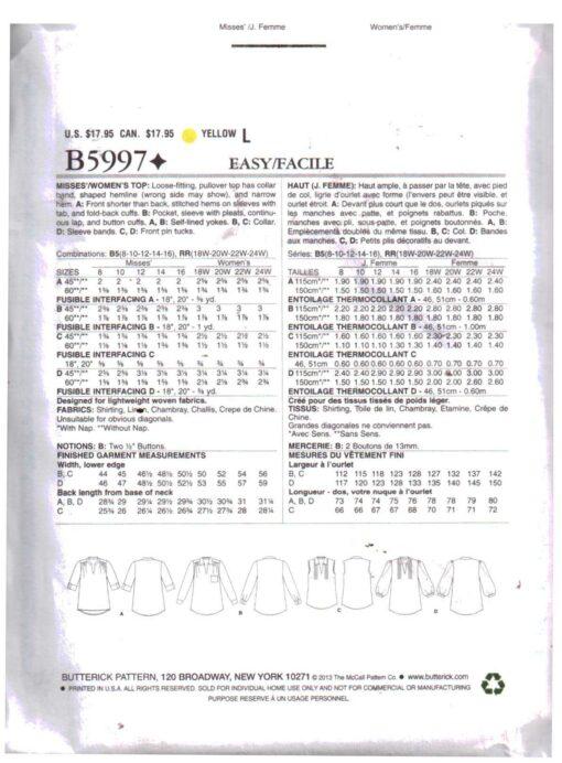 Butterick B5997 1
