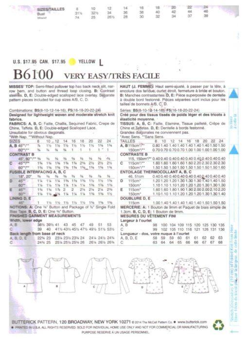 Butterick B6100 1
