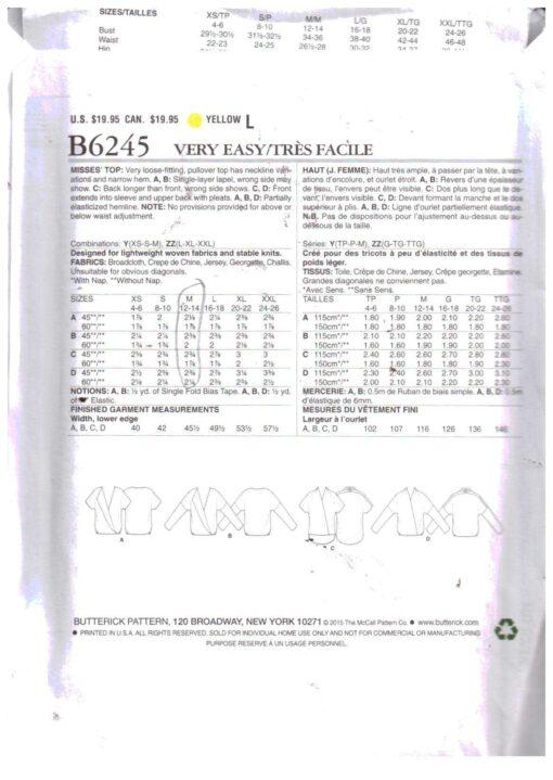 Butterick B6245 1