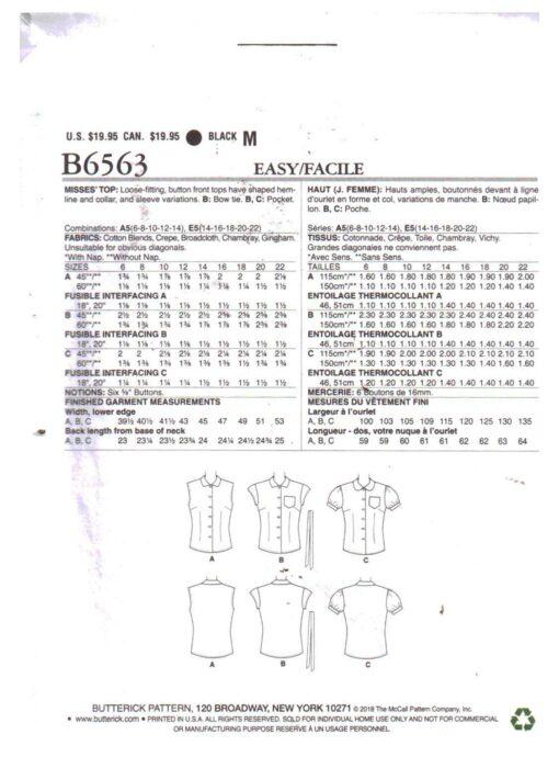 Butterick B6563 1
