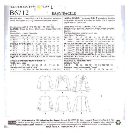 Butterick B6712 1