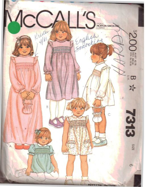 McCalls 7313