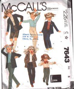 McCalls 7643