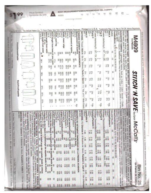 McCalls M4809 1
