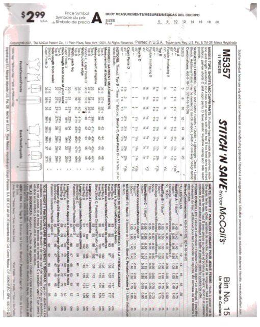 McCalls M5357 1
