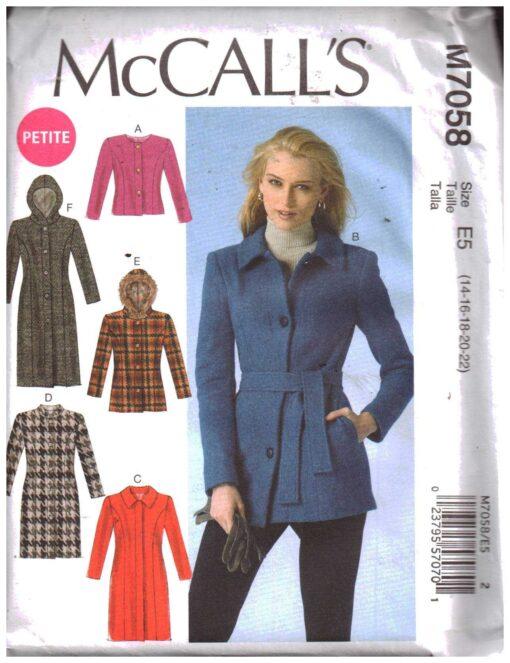 McCalls M7058