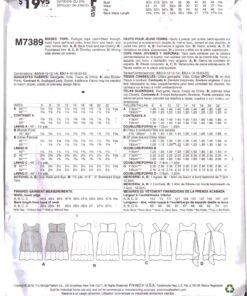 McCalls M7389 1