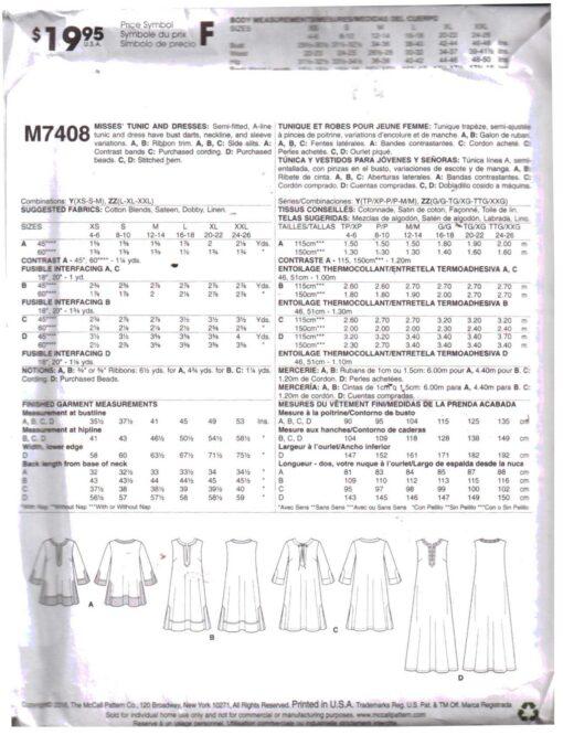 McCalls M7408 1
