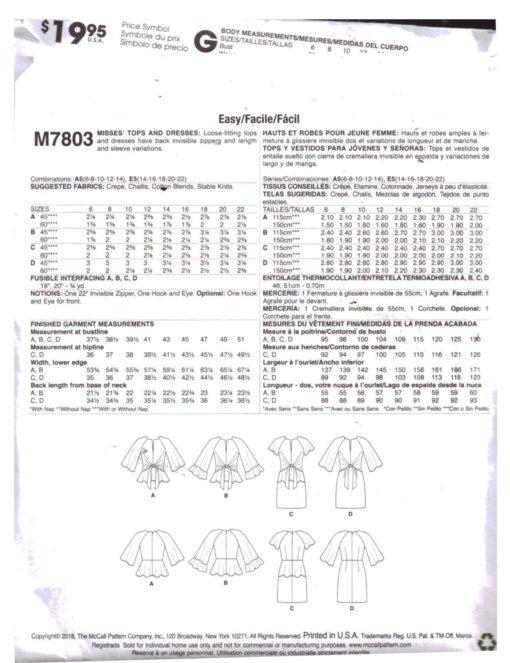 McCalls M7803 1