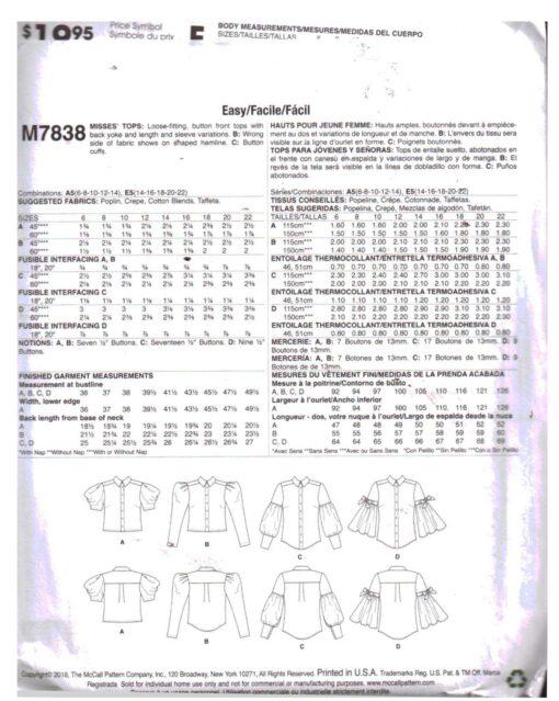 McCalls M7838 1