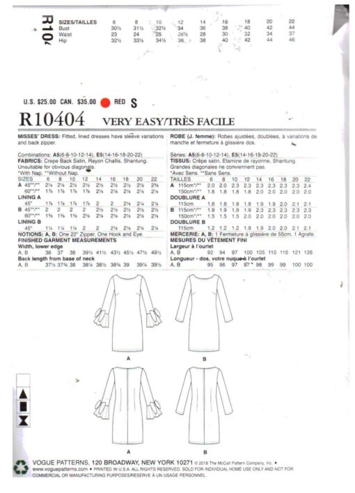 Vogue R10404 1