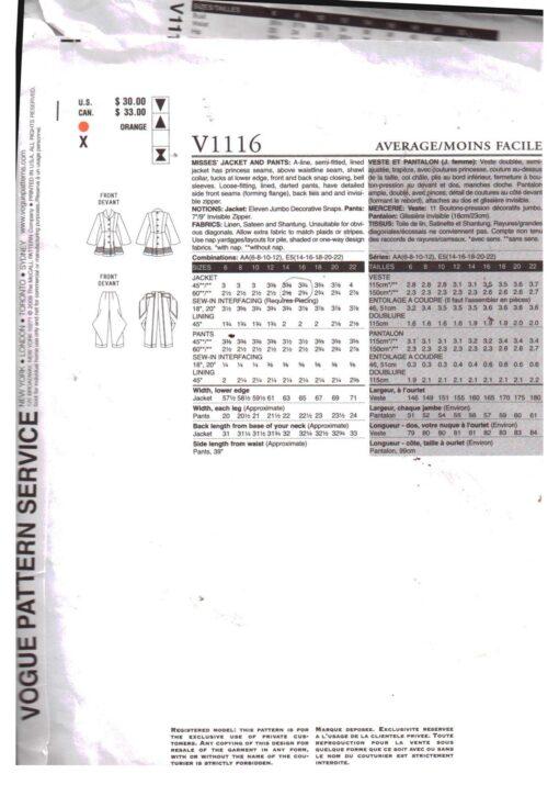Vogue V1116 1