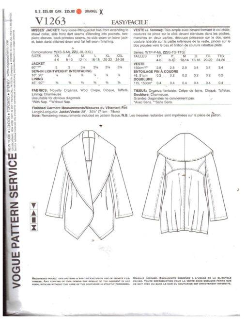 Vogue V1263 1