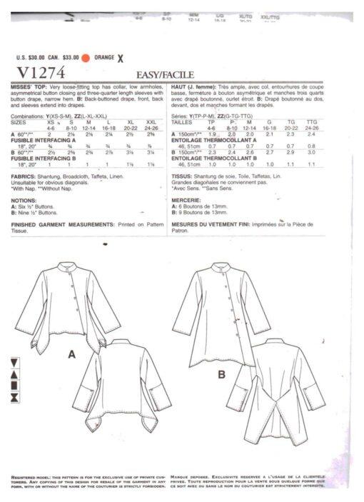 Vogue V1274 1