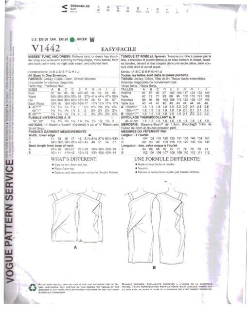 Vogue V1442 1