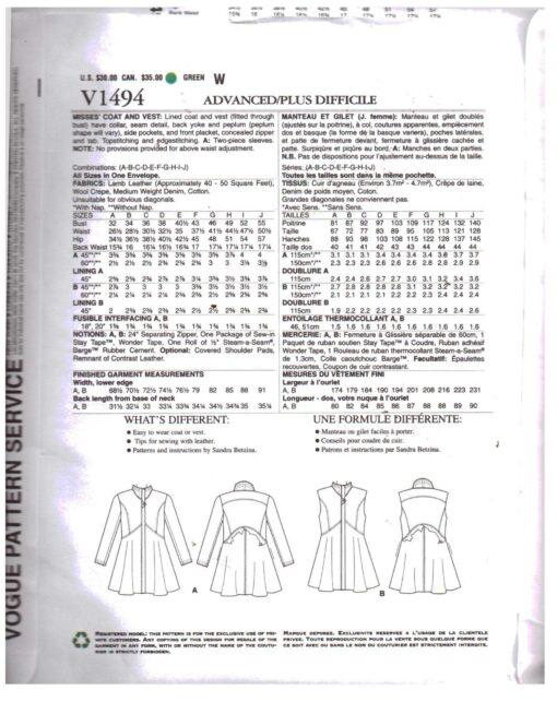 Vogue V1494 1