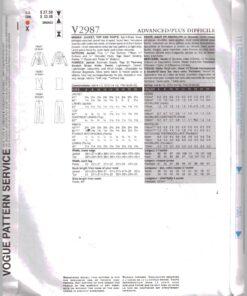 Vogue V2987 1