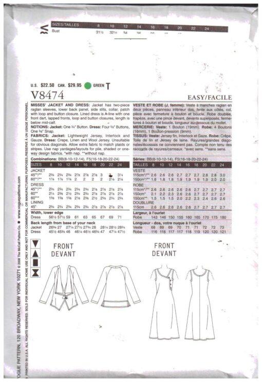 Vogue V8474 1
