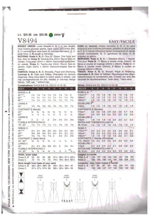 Vogue V8494 1