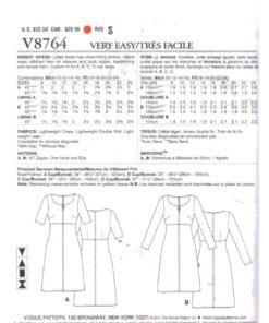 Vogue V8764 1