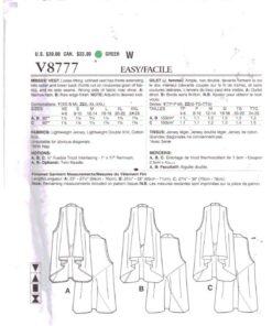 Vogue V8777 1