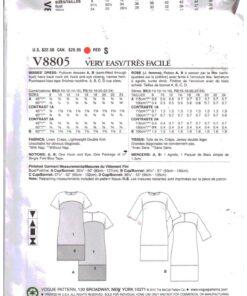 Vogue V8805 1