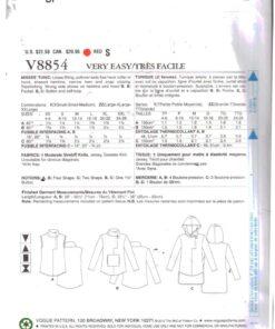 Vogue V8854 1
