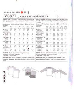 Vogue V8877 1