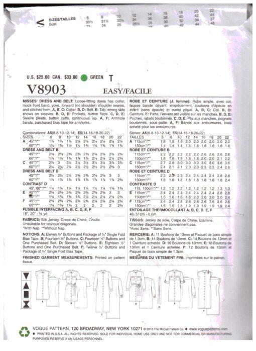 Vogue V8903 1