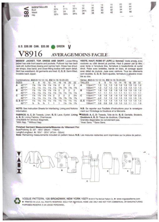 Vogue V8916 1