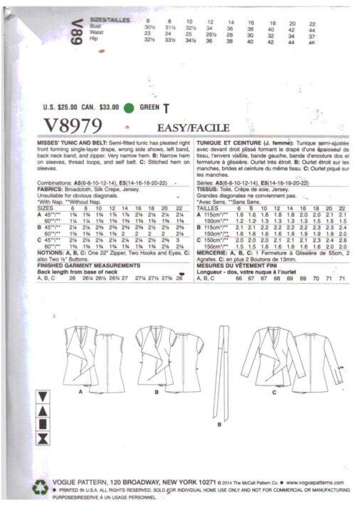Vogue V8979 1