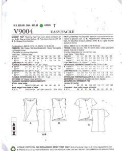 Vogue V9004 1