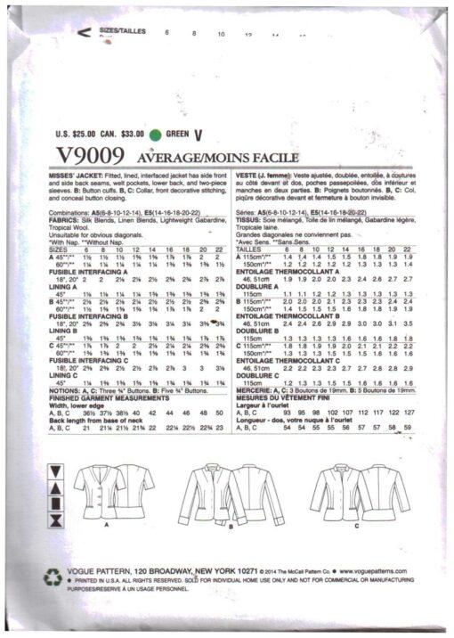 Vogue V9009 1