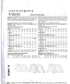 Vogue V9039 1