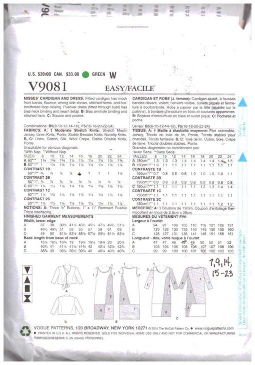 Vogue V9081 1